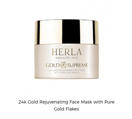 HERLA naturally rich Gold Supreme – 24k gold rejuvenating face mask with pure gold flakes